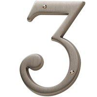 Baldwin Hardware - Satin Nickel - #3 House Number in Satin Nickel