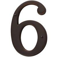 Baldwin Hardware - Venetian Bronze - #6 House Number in Venetian Bronze