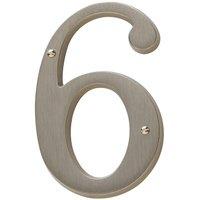Baldwin Hardware - Satin Nickel - #6 House Number in Satin Nickel