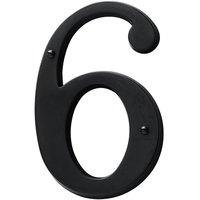 Baldwin Hardware - Satin Black - #6 House Number in Satin Black