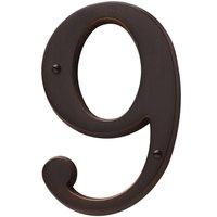 Baldwin Hardware - Venetian Bronze - #9 House Number in Venetian Bronze