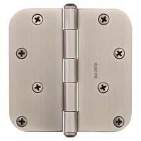 """Baldwin Hardware - Reserve Door Accessories - 4"""" 5/8"""" Radius Corner Door Hinge in Matte Antique Nickel"""