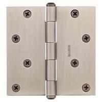 """Baldwin Hardware - Reserve Door Accessories - 4"""" Square Corner Door Hinge in Matte Antique Nickel"""