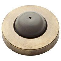 """Baldwin Hardware - Reserve Door Accessories - 2.4"""" Convex Wall Bumper in Matte Brass & Black"""