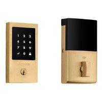 Baldwin Hardware - Keyless Entry Electronic Deadbolts - Minneapolis Touchscreen Deadbolt in Lifetime (PVD) Polished Brass
