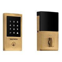 Baldwin Hardware - Keyless Entry Electronic Deadbolts - Minneapolis Touchscreen Deadbolt with Z-Wave in Lifetime (PVD) Polished Brass