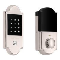 Baldwin Hardware - Keyless Entry Electronic Deadbolts - Boulder Touchscreen Deadbolt with Z-Wave in Lifetime (PVD) Polished Brass