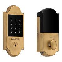 Baldwin Hardware - Keyless Entry Electronic Deadbolts - Boulder Touchscreen Deadbolt with Z-Wave in Lifetime (PVD) Polished Brass
