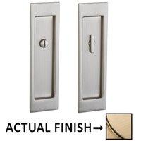 Baldwin Hardware - Pocket Door Hardware - Large Santa Monica Privacy Mortise Pocket Door Set in Lifetime Brass