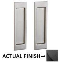 Baldwin Hardware - Pocket Door Hardware - Large Santa Monica Passage Mortise Pocket Door Set in Lifetime Brass