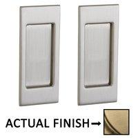 Baldwin Hardware - Pocket Door Hardware - Small Santa Monica Passage Mortise Pocket Door Set in Lifetime Brass