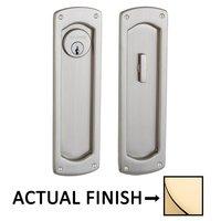 Baldwin Hardware - Pocket Door Hardware - Palo Alto Keyed Mortise Pocket Door Set in Lifetime Brass