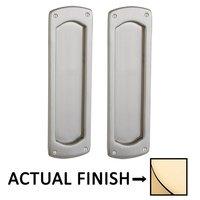 Baldwin Hardware - Pocket Door Hardware - Palo Alto Passage Mortise Pocket Door Set in Lifetime Brass