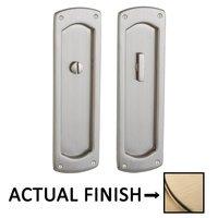 Baldwin Hardware - Pocket Door Hardware - Palo Alto Privacy Mortise Pocket Door Set in Lifetime Brass