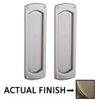 Baldwin Hardware - Pocket Door Hardware - Palo Alto Passage Mortise Pocket Door Set in Lifetime Brass