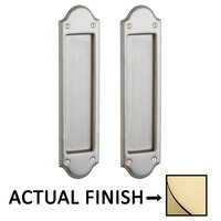 Baldwin Hardware - Pocket Door Hardware - Boulder Passage Mortise Pocket Door Set in Lifetime Brass
