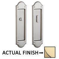 Baldwin Hardware - Pocket Door Hardware - Boulder Privacy Mortise Pocket Door Set in Lifetime Brass