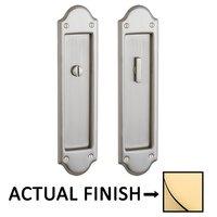 Baldwin Hardware - Pocket Door Hardware - Boulder Privacy Mortise Pocket Door Set in Lifetime Brass