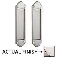 Baldwin Hardware - Pocket Door Hardware - Boulder Passage Mortise Pocket Door Set in Lifetime Brass