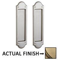 Baldwin Hardware - Pocket Door Hardware - Boulder Full Dummy Pocket Door Set in Lifetime Brass
