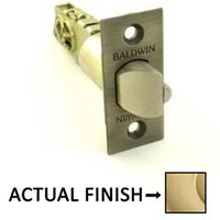 Baldwin Hardware - Estate Door Accessories - Keyed Universal Deadlocking Latch for Keyed Entry in Unlacquered Brass