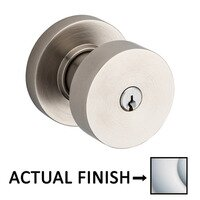 Baldwin Hardware - Contemporary - Keyed Contemporary Knob with Round Rose in Lifetime Pvd Polished Brass