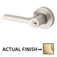 Baldwin Hardware - Contemporary - Right Handed Square Lever with Round Rose in Lifetime Pvd Polished Brass
