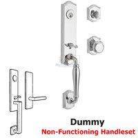 Baldwin Hardware - Reserve New Hampshire - Full Dummy Handleset with Traditional Knob in Polished Chrome