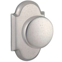 Baldwin Hardware - Reserve Rustic - Passage Door Knob with Arch Rose in White Bronze