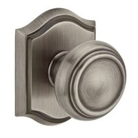 Baldwin Hardware - Reserve Traditional - Passage Door Knob with Arch Rose in Matte Antique Nickel