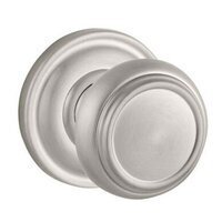 Baldwin Hardware - Reserve Traditional - Passage Door Knob with Round Rose in Satin Nickel