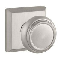 Baldwin Hardware - Reserve Traditional - Passage Door Knob with Square Rose in Satin Nickel