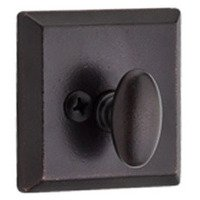 Baldwin Hardware - Reserve Rustic - Patio (One-Sided) Square Deadbolt in Dark Bronze