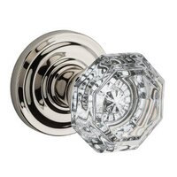 Baldwin Hardware - Reserve Crystal - Privacy Crystal Door Knob with Traditional Round Rose in Polished Nickel