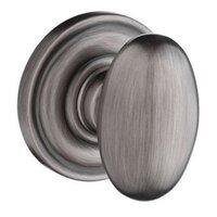 Baldwin Hardware - Reserve Ellipse - Privacy Door Knob with Traditional Round Rose in Matte Antique Nickel