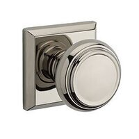 Baldwin Hardware - Reserve Traditional - Privacy Traditional Door Knob with Traditional Square Rose in Polished Nickel