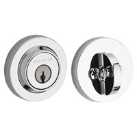 Baldwin Hardware - Reserve Contemporary - Single Cylinder Round Deadbolt in Polished Chrome