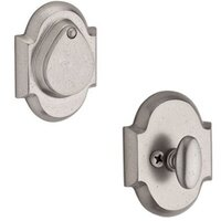 Baldwin Hardware - Reserve Rustic - Single Cylinder Arch Deadbolt in White Bronze