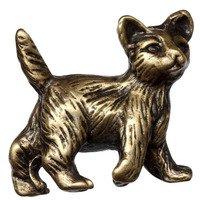 Big Sky Hardware - Masks - Cat Knob in Antique Brass