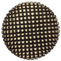 "Big Sky Hardware - Textured - 1 3/8"" Diameter Caviar Round Knob in Antique Brass"