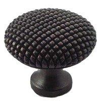 "Big Sky Hardware - Textured - 1 3/8"" Diameter Caviar Round Knob in Oil Rubbed Bronze"