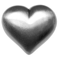 Big Sky Hardware - Kids & Teens - Large Heart Knob in Pewter