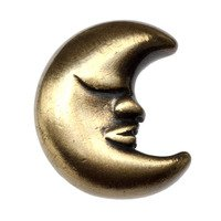 Big Sky Hardware - Kids & Teens - Kids Moon Knob in Antique Brass