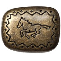 Big Sky Hardware - Southwestern - Southwest Running Horse Knob in Antique Brass