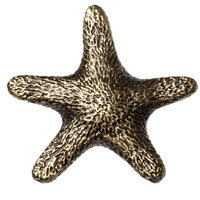 Big Sky Hardware - Animals - Star Fish Knob in Antique Brass