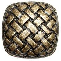 Big Sky Hardware - Textured - Basket Weave Knob in Antique Brass