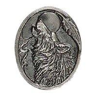 Novelty Hardware - Wildlife - Howling Wolf Knob in Antique Brass