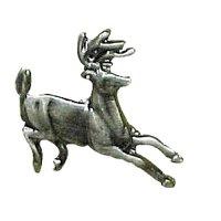 Novelty Hardware - Wildlife - Running Whitetail Knob in Antique Brass