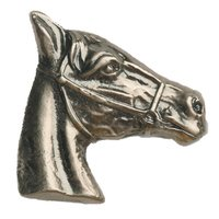 Novelty Hardware - Southwest - Horse Head Stallion Knob in Antique Brass
