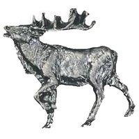 Novelty Hardware - Wildlife - Walking Elk Knob Facing Left in Antique Brass